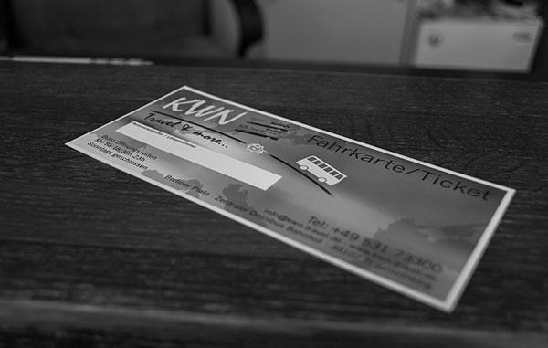 Fahrkarte Nahaufnahme